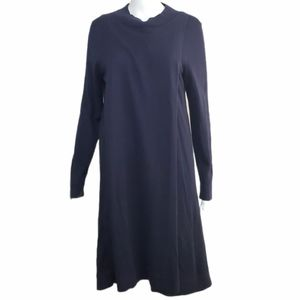 Eileen Fisher Navy Tunic Wrap Pullover Sweater